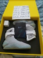 NIKE AIR MAG BACK TO THE FUTURE 2011 SIZE 9 DEADSTOCK NEW WITH BOX ACCESSORIES