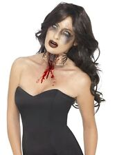 Halloween Horror Zombie Exposed Throat Wound Smiffys Just Add Blood