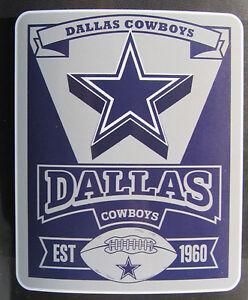 "NFL Dallas Cowboys 50"" by 60"" Rolled Fleece Blanket Marque Design"