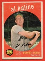 1959 Topps #360 Al Kaline GOOD+ CREASE Detroit Tigers Hall of Fame FREE SHIPPING