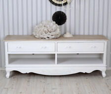 MESA de Tele Shabby Blanco TV Muebles Aparador estilo rústico TV Armario Vintage