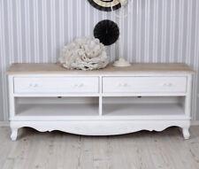 Table de télévision shabby blanc TV Meuble buffet style maison campagne armoire