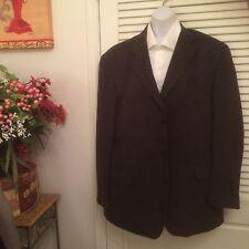 Men's Stafford Blazer Size 44R 3 Button Sport Coat SUEDE LOOK