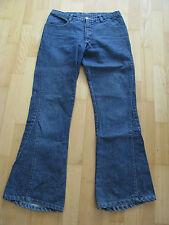 Liberto vaqueros señora talla w29 azul 100% algodón trabillas para el cinturón cremallera