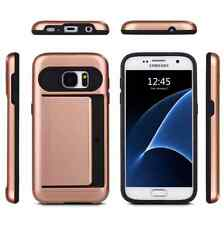 New Card pocket Armor CASE  Hard Tough Cover for Samsung S7/S7 edge