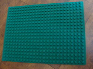 Brick Building Play Mat Silicone Rubber 2 Sided Works w Lego & Duplo Green 16x12