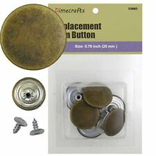 25 mm No-Sew Replacement Jean Tack Buttons (D366D)  6 CT. Color Brass