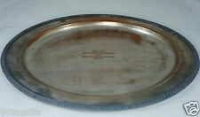"VINTAGE OVAL SILVER PLATE TRAY 1953 FLIGHT TOURNAMENT TROPHY ""AVON"" BY ROGERS"