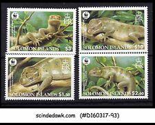 SOLOMON ISLANDS - 2005 REPTILES / LIZARDS / WWF / ANIMALS - 4V - MINT NH