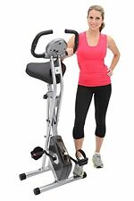 Exerpeutic Folding Magnetic Upright Bike with Pulse Sport Fitness Exercise Bikes