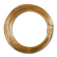 Anodized Aluminum Wire 12 Gauge 39 Feet Tangerine 41383 Round Shiny