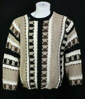 Vtg 90s Bachrach Mens XL Wool Blend Hip Hop 3D Biggie Sweater