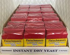 2 Bags Fleischmann'S Instant Dry Yeast 1 Lb Fast Acting -2 Lb In Total Exp 07/22