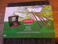 Derwent academy pencils Wooden Box Set of 35