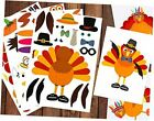 Make-A-Turkey Stickers Thanksgiving Party Games/Favors/Supplies - Set Of 36