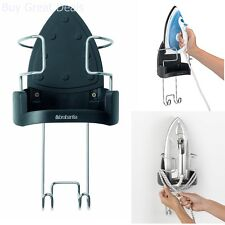 Wall Mount Iron Rest Hook Hanging Ironing Board Holder Safety Flex Cord Storage
