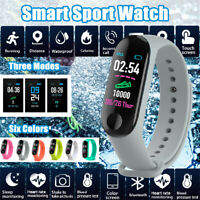 bluetooth Smart Watch Blood Pressure Heart Rate USB2.0 Wristband For IOS Android