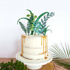 7pcs Green Plant Cake Toppers Kids Birthday Party Decoration Cupcake Flag Fad CA