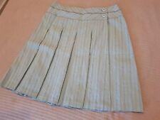 Cue Mint Green Pinstripe Pleated Wrap Skirt Sz 10