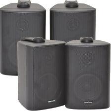 """2x Par 2 Vías Estéreo Compacto speakers-3,5 """" 100w 8ohm-black montado en la pared Surround"""
