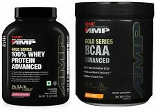 GNC Amp Gold Series 100% Whey Protein 2 kg + Amp Gold Series BCAA 337.5 gm FS