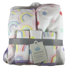 "Cloud Island Hooded Towel Infant 30"" x 30"" 5 pk 2 Towels 3 Wash Cloths Set NEW"