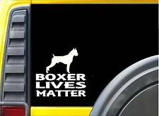 Boxer Lives Matter Sticker k190 6 inch cropped dog decal