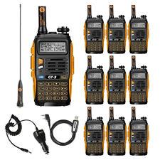 10× BaoFeng/Pofung *GT-3 Mark II* + Cable USB 136-174/400-520MHz Emisora RADIO