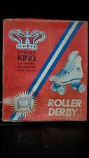 Vintage Roller Derby Street King Lace-Up Shoe Roller Skates White Size 6 Women's