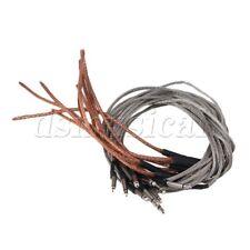 10 Pieces Acoustic Guitar Under Saddle Bridge Soft Piezo Cable Pickup Silver