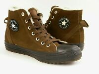 CONVERS ALL STAR Chuck Taylor CT HOLLIS HI Brown Suede 632569c Fluffy Lined 37,5
