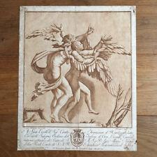 Gravure XVIIIé Stephano MULINARI 1784 Jilio ROMANO Etching AQUATINTE SEPIA