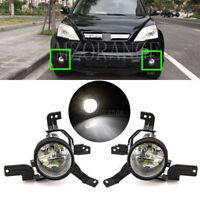 Left Right Side LED Front Bumper Fog Light Lamp FOR Honda CRV CR-V RE 2007-2009