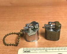 (2) Vintage Mini Cigarette Lighters Japan Not Tested