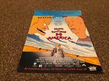 "(BEBK56) ADVERT/POSTER 11X8"" BEAVIS AND BUTT-HEAD DO AMERICA IN CINEMAS MAY 23RD"