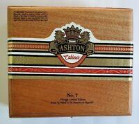 Ashton Cabinet Empty Wood Cigar Box 062 039