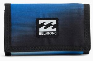 NEW + TAG BILLABONG ATOM TRI-FOLD BOYS MENS KIDS TEENS WALLET SURF STEALTH BLUE