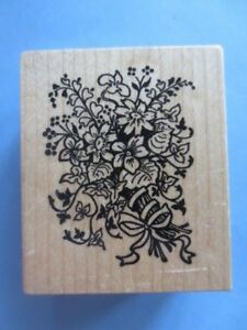 PSX rubber stamp mixed flower floral bouquet