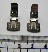 Shoe Clips for fastening embellishments to shoes hinged removable wedding
