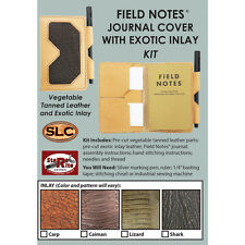 SLC Field Notes Leather Journal Cover With Carp Fish Inlay Veg Tan Kit DIY Craft