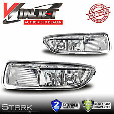 2003-2004 Corolla Fog Lights Clear Lens Front Driving Lamps - PAIR