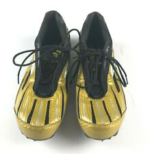 Brooks Surge Track/Field Womens Gold Black Racing Spike Shoes Size 10.5