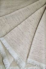 Wool Plaid with Linen Proportion, Sofa Blanket 51 3/16X68 7/8In, Wool