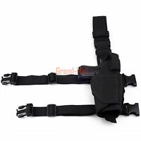 New Tactical Military Pistol Gun Drop Leg Thigh Holster Right Hand Black