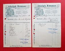 2 x Reklame Briefkopf Bogen DRESDEN 1896 Warenhaus Adolph Renner    ( F16260