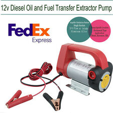 USA Oil Diesel Fuel Transfer Pump Fluid Extractor Electric Scavenge Suction 12V