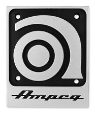 "GENUINE AMPEG AMPLIFIER SVT AMP PLASTIC REPLACEMENT LOGO PLATE (3""x 4"") *NEW*"