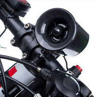 Ultra-loud Speaker Black Electronic Bicycle 6 Sounds Bell Bike Siren Horn New.#