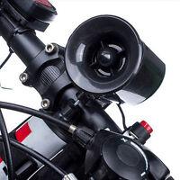 Ultra-loud Speaker Black Electronic Bicycle 6 Sounds Bell Bike Siren Horn Gift