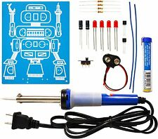 Elenco k-17SLD LED Robot Blinker Soldering Kit with Iron and Solder